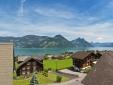 View from Boutique-hotel Schlüssel over Lake Lucerne, Switzerland