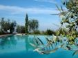 Lucignanello Bandini San Giovanni D'Asso Tuscany Italy infinity swimming pool