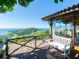 Balcony of the Master 5 chalet with beautiful view of Praia do Rosa